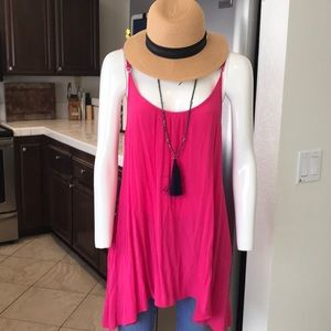 M Fredric Elan fushia pink tunic cover up